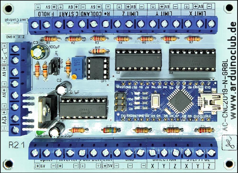 ArduinoClub Arduino Nano GRBL 1.1 CNC Controller